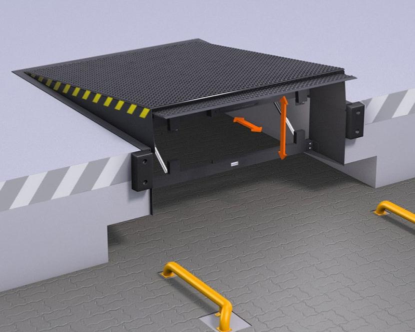 Уравнительные платформы с выдвижной аппарелью ALUTECH TL