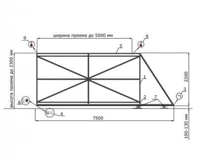 Откатные ворота SUNGATE, толщина 60 мм
